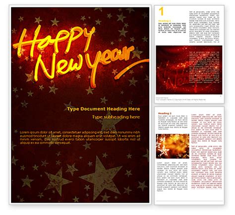 templates word happy new year happy new year theme word template 08965 poweredtemplate com