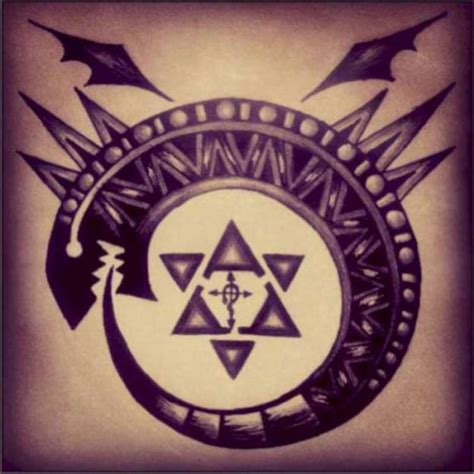 brotherhood tribal tattoo ouroboros fma sloth fma brotherhood