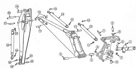 backhoe parts diagram deere pins backhoe pins and bushings