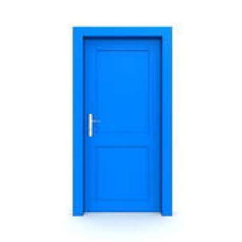 door clipart blue