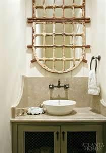 Powder Room Mirror Ideas Powder Room Design With A Really Unique Mirror