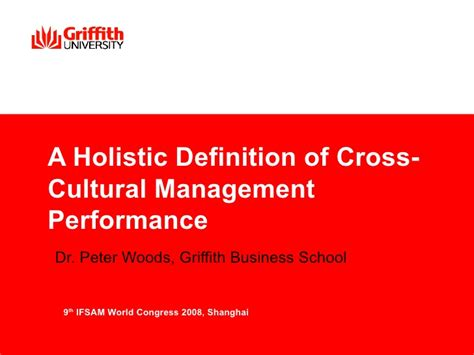 Cross Cultural Management 1 holistic cross cultural management
