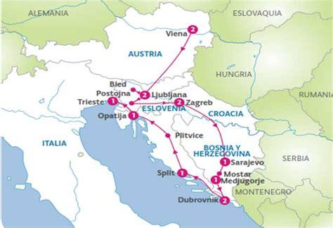 donde se localiza croacia oferta viaje viena eslovenia bosnia croacia bidtravel