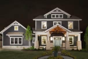blue craftsman house jerome village lot 125 craftsman exterior columbus by romanelli hughes custom home