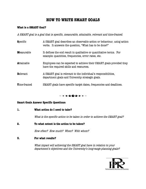 measurable goals and objectives template 13 best images of goals and objectives worksheet goal