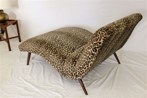 leopard print chaise lounge chair adrian pearsall style chaise lounge
