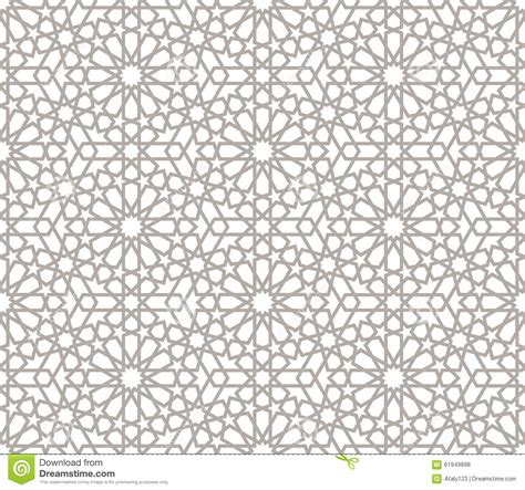 graphic design z pattern background with seamless pattern in arabic style stock
