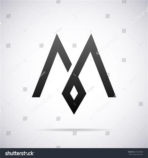 letter m layout logo letter m design template stock vector 325749698