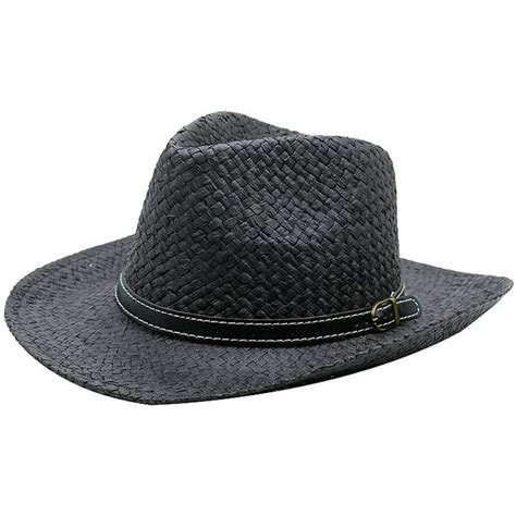 Woven Faux Leather Belt wholesale detachable faux leather belt woven straw hat