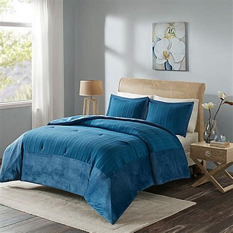 bed bath and beyond madison buy madison park evelyn full queen comforter set in blue