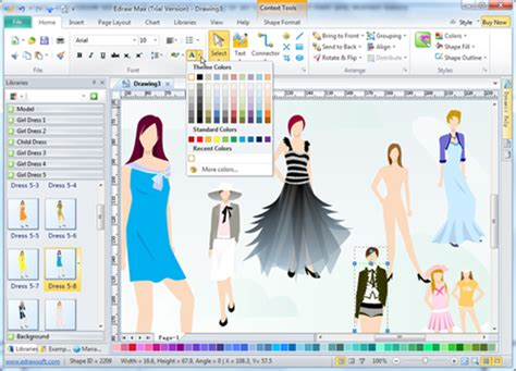 design free clothes online fashion design software edraw max makes fashion design