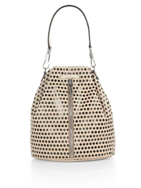 Slingbag Polkadot Bs016 elizabeth and polka dot sling backpack in gold chagne black lyst