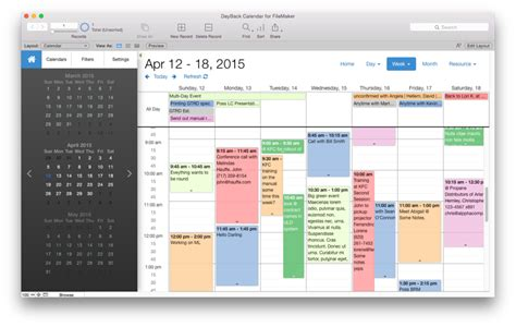 Seedcode Calendars Templates And Apps For Filemaker Pro Iphone And Ipad Filemaker Pro Templates