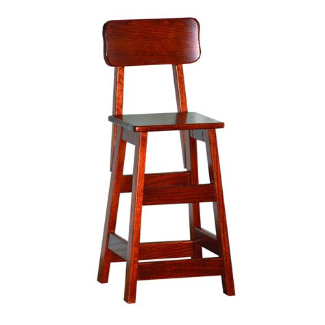 childs bar stool with back amish crafted furniture