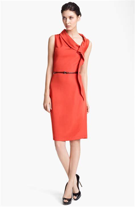 side drape dress max mara belted side drape dress in color list having 1