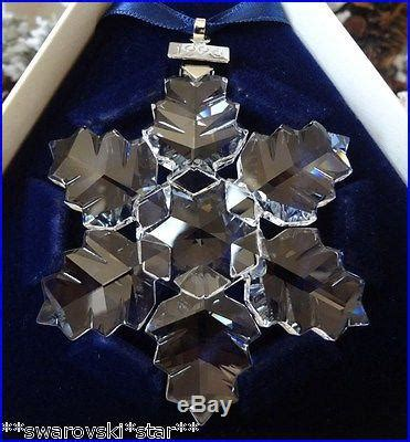 1996 nib swarovski crystal annual christmas ornament star