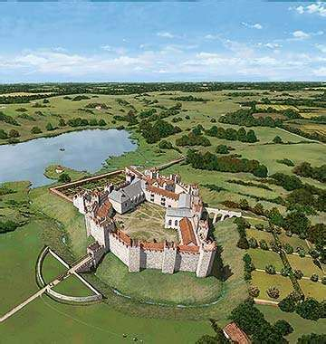 English Tudor by Framlingham Castle English Heritage