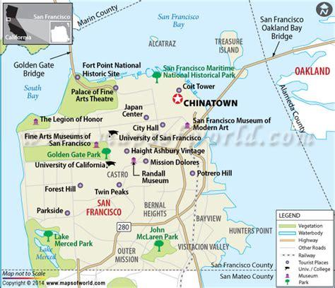 san francisco map of chinatown chinatown san francisco california