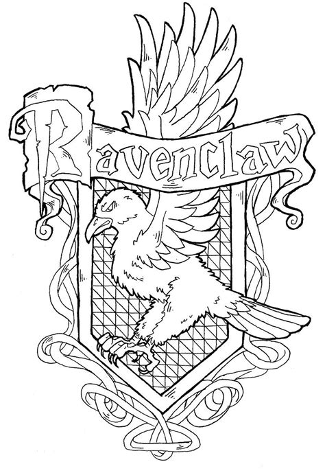 harry potter house coloring pages ravenclaw crest by yami shinen deviantart com harry