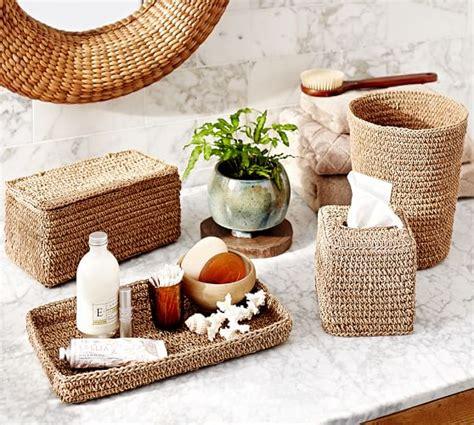 Crochet Weave Bath Accessories Pottery Barn Pottery Barn Bathroom Accessories