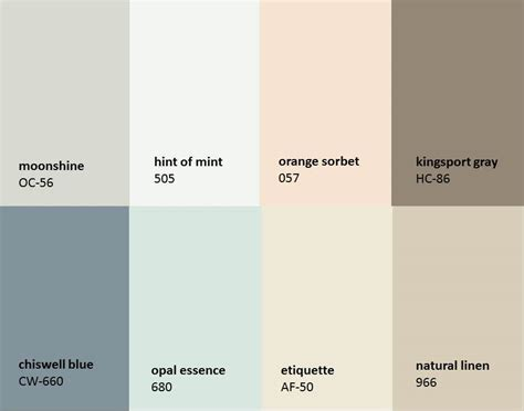 benjamin moor colors benjamin moore paint color scheme home painting