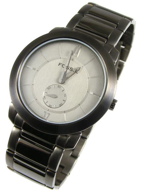 Fossil Silver Combi s watches fossil arkitekt ion plated sub second quartz only 8mm thick fs4288 was