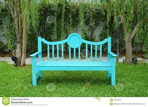 banc couleur banc de jardin de couleur de turquoise photo stock image