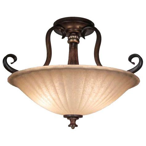 antique 2 light semi flush kitchen ceiling lights hton bay reims 2 light antique bronze semi flush mount