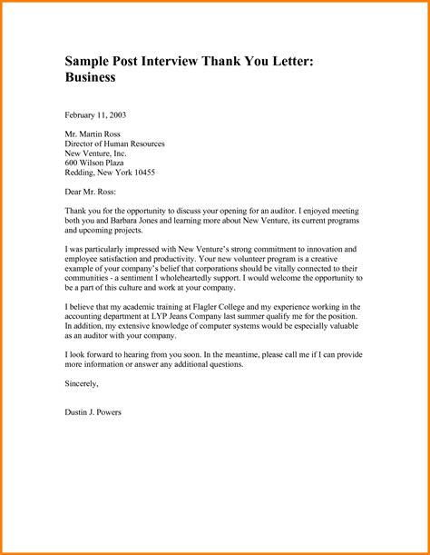 thank you letter after with the owner or president of a company thank you letter for business opportunity the best