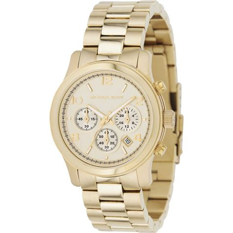 michael kors ladies runway gold chronograph  mk