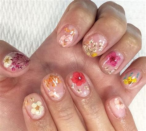 gel flower 40 real flower nail ideas for chhory makeup