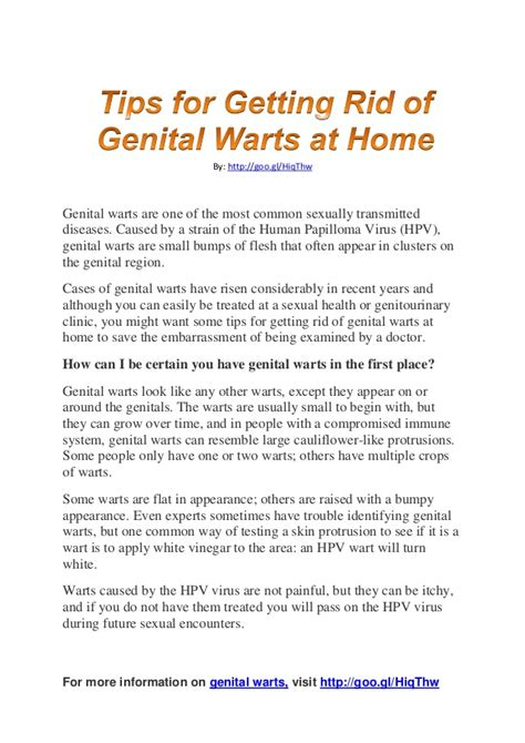 tips for getting rid of warts at home