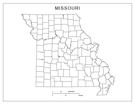 missouri map county lines missouri county map images