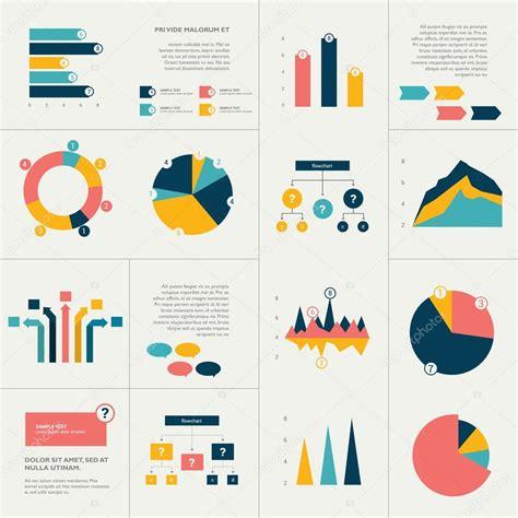 Flat Flow big set of flat infographics elements chart graph