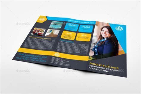 brochure template university university college tri fold brochure template by
