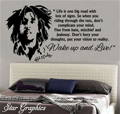 bob marley home decor bob marley wake up and live vinyl removable wall art