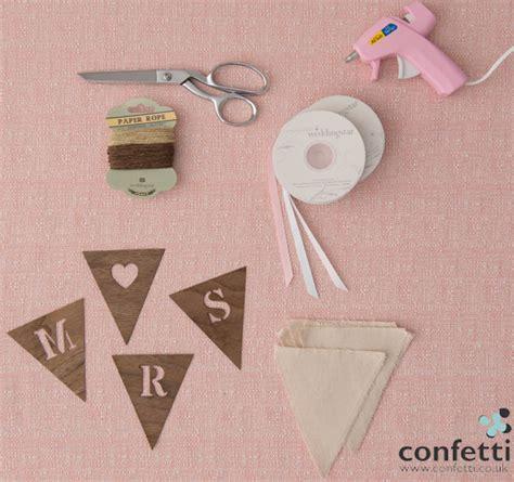 Diy Upholstery Supplies Uk by Diy Friday And Groom Chair Banners Confetti Co Uk