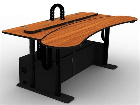 Dispatch Desk by 911 Dispatch Console Adjustable Height Desk Banana Ero
