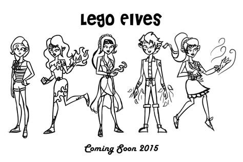 lego elf coloring pages lego elves characters uncolored by theaproject on deviantart