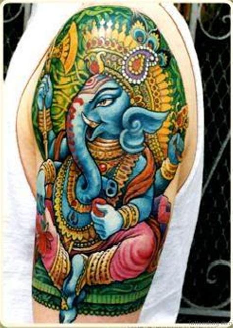 lord ganesha tattoo 92 lord ganesha tattoos on shoulder