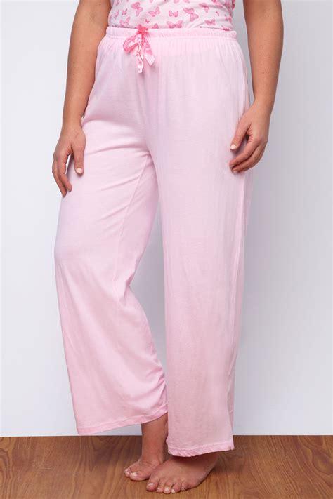 Piyama Pajamas Tsum2 Draw Pink pink plain pyjama bottoms with pink ribbon draw cord plus size 14 16 18 20 22 24 26 28 30 32 34 36