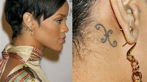 rhianna tattoos pisces rihanna s aries side see personal astrology