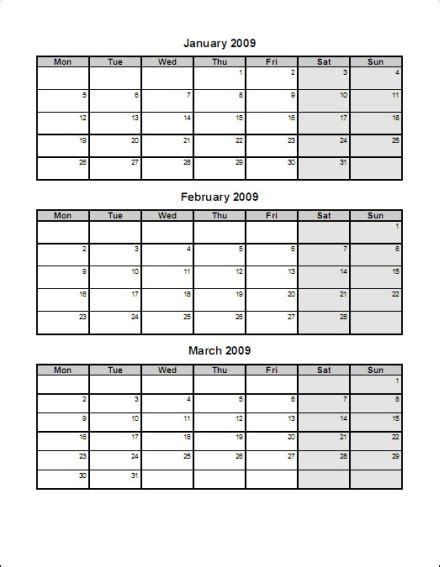 three month calendar template 7 best images of 3 month printable calendar free