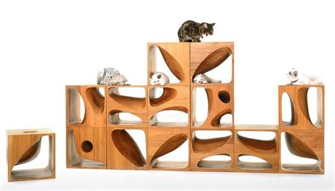 keep cat table catable 2 0 stylish wooden cubes keep your cat