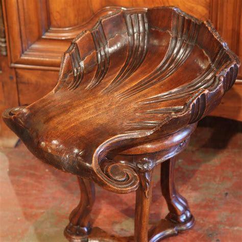 adjustable piano stool walnut 19th century carved walnut adjustable shell shaped