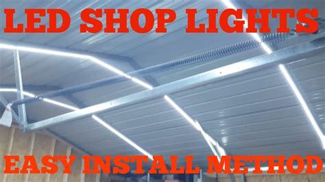 4ft led garage lights garage led shop lights low voltage easy install youtube