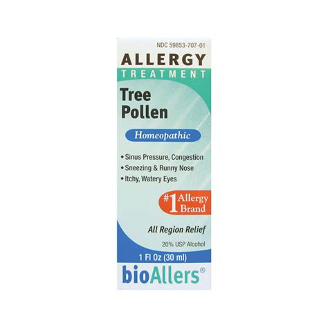 allergy tree bioallers tree pollen allergy treatment 1 fl oz liquid