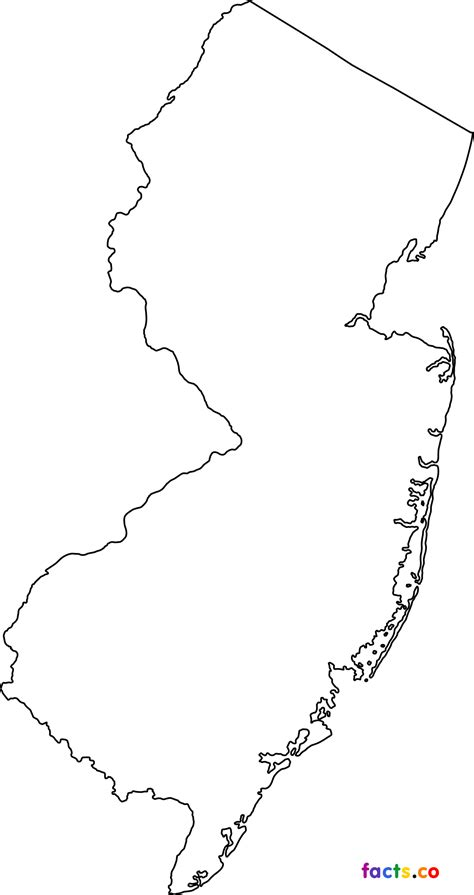 New Jersey State Map Outline by New Jersey Maps Political Physical Cities And Blank Outline