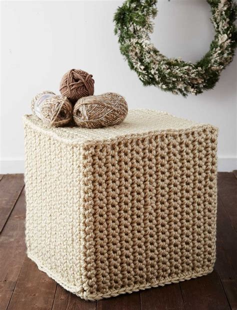 crochet ottoman pattern 1000 images about bernat free patterns on pinterest