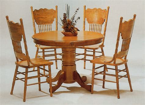 Oak Kitchen Table And Chairs by Wooden Table Chair Designs An Interior Design